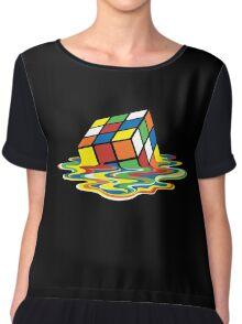 Melting Rubick's Cube - Sheldon Cooper T-Shirts Chiffon Top