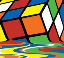 Melting Rubick's Cube - Sheldon Cooper T-Shirts Sticker