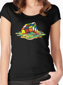 Melting Rubick's Cube - Sheldon Cooper T-Shirts Women's Fitted Scoop T-Shirt