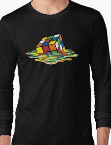 Melting Rubick's Cube - Sheldon Cooper T-Shirts Long Sleeve T-Shirt