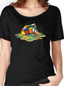 Melting Rubick's Cube - Sheldon Cooper T-Shirts Women's Relaxed Fit T-Shirt