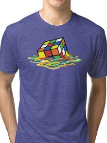 Melting Rubick's Cube - Sheldon Cooper T-Shirts Tri-blend T-Shirt