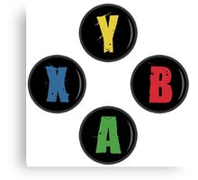 X Box Buttons - Grunge Style Canvas Print