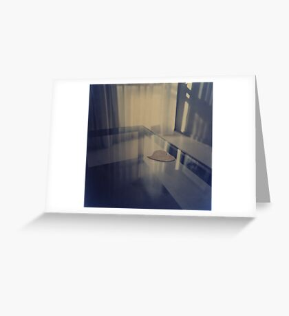 Love heart on table - Hasselblad 500cm hand made darkroom color print Greeting Card