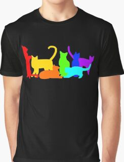 Rainbow Cats Graphic T-Shirt