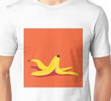 Banana peel icon flat design pop art illustration. Unisex T-Shirt