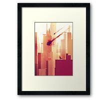 watching over the city Framed Print