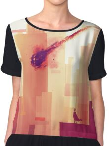watching over the city Chiffon Top