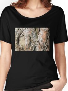 Tree Bark Weathered Texture Women's Relaxed Fit T-Shirt