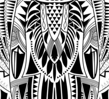 Hand-Drawn Owl illustration with abstract pattern Sticker