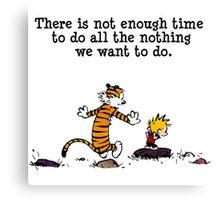 Calvin & hobbes Canvas Print