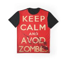 Keep calm and avoid zombies (vintage) Graphic T-Shirt