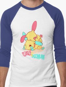 Plusle & Minun Men's Baseball ¾ T-Shirt