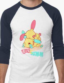 Plusle & Minun Men's Baseball ¾ T-Shirt