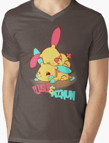 Plusle & Minun Mens V-Neck T-Shirt