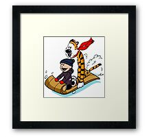 Calvin and hobbes Framed Print