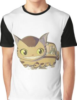Cat Bus Graphic T-Shirt