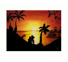 Sunset Shore Art Print