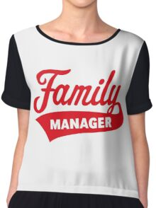 Family Manager (Red) Chiffon Top