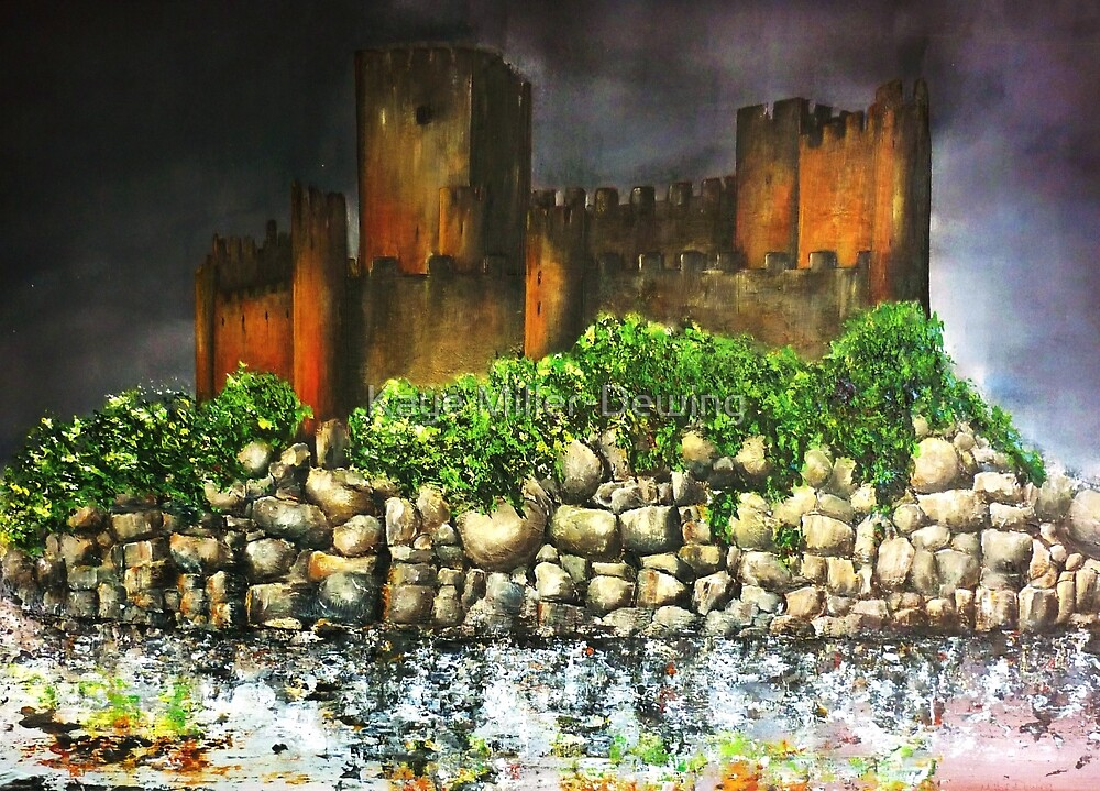 Templar Castle of Almourol by Kaye Miller-Dewing