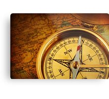 Compass for a captain Metal Print