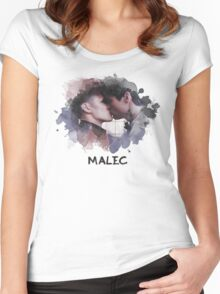 Malec - Shadowhunters - Canvas Women's Fitted Scoop T-Shirt