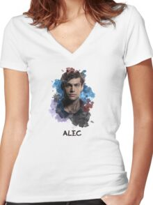Alec - Shadowhunters - Canvas Women's Fitted V-Neck T-Shirt