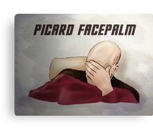 Picard facepalm Canvas Print