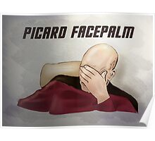 Picard facepalm Poster