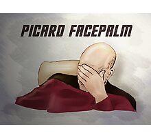 Picard facepalm Photographic Print