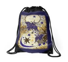 Owl Sun Moon Drawstring Bag