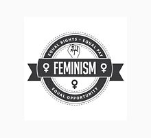 Raised fist icon badge of feminism in chic gray Unisex T-Shirt