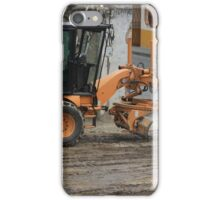 Grader at a Construction Site iPhone Case/Skin