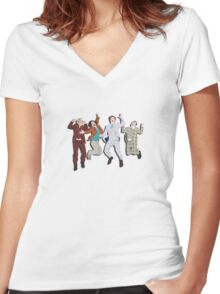 Anchorman Flash Women's Fitted V-Neck T-Shirt