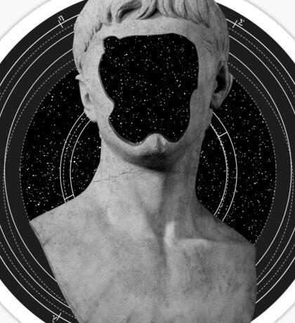 Faceless Greek Sculpture Vaporwave Design Sticker