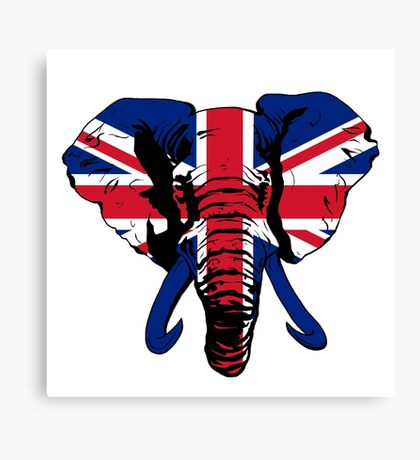 Elephant UK Canvas Print