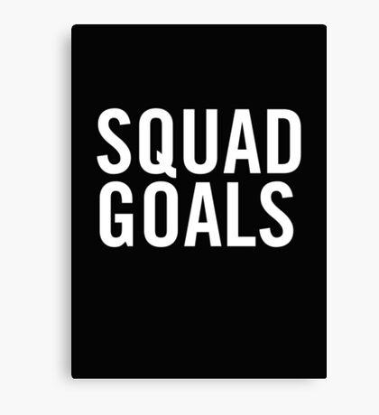 Squad Goals (White) Canvas Print