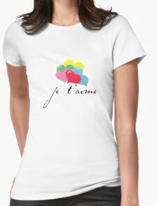 je' taime with balloons (I love you) Womens Fitted T-Shirt