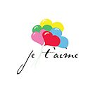 je' taime with balloons (I love you) by cinn