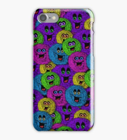 Friendly Fuzzles Cute Creatures Pattern iPhone Case/Skin