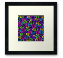 Friendly Fuzzles Cute Creatures Pattern Framed Print