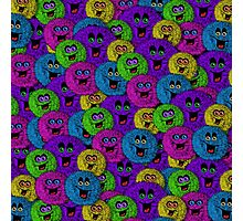 Friendly Fuzzles Cute Creatures Pattern Photographic Print