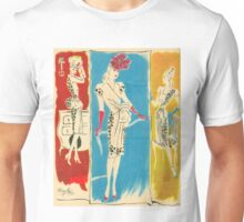 Vintage Para Ti Fashion Plate Unisex T-Shirt