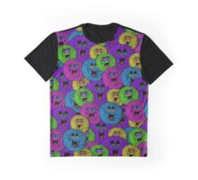 Friendly Fuzzles Cute Creatures Pattern Graphic T-Shirt