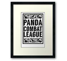 PANDA COMBAT LEAGUE Framed Print
