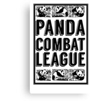 PANDA COMBAT LEAGUE Canvas Print