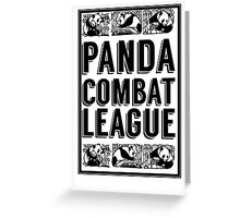 PANDA COMBAT LEAGUE Greeting Card