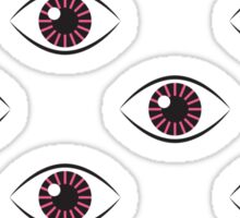 Eyes Wide Open - Lipstick Pink Sticker