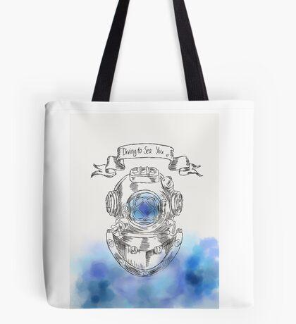 Diving To Sea You Tote Bag