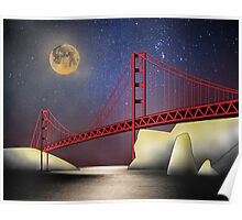 Golden Gate Moonlight Poster